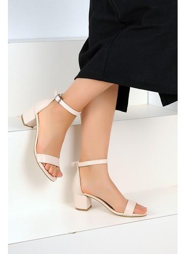 Pembe Potin Ayakkabı Bej